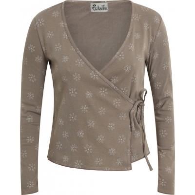 Shirt wrap organic cotton print,  sand-grey