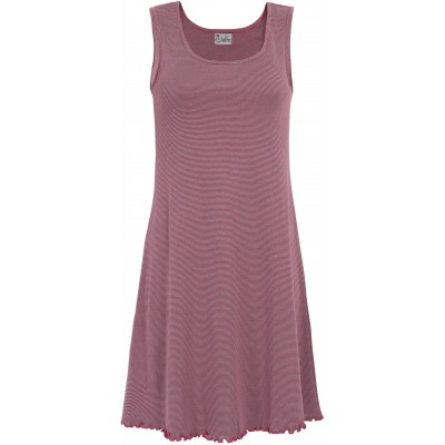Basic dress organic cotton stripes,  cerise-grey
