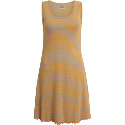 Basic dress organic cotton stripes,  yellow-purple