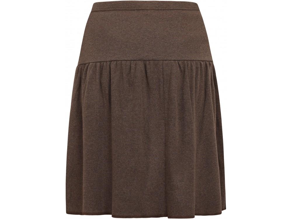 Skirt organic cotton stripes ,  anthracite-brown