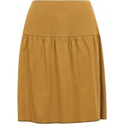 Skirt organic cotton stripes ,  curry-light brown