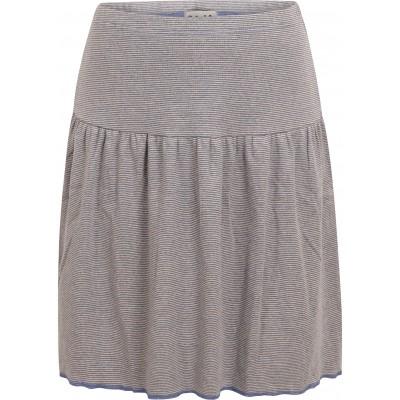 Skirt organic cotton stripes ,  lavender-undyed