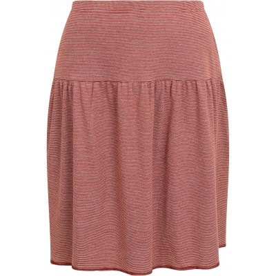 Skirt organic cotton stripes ,  rust-undyed