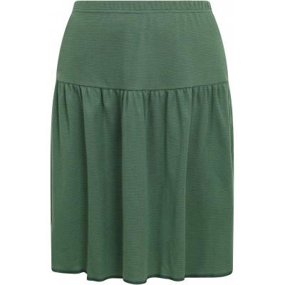 Skirt organic cotton stripes ,  green-petrol