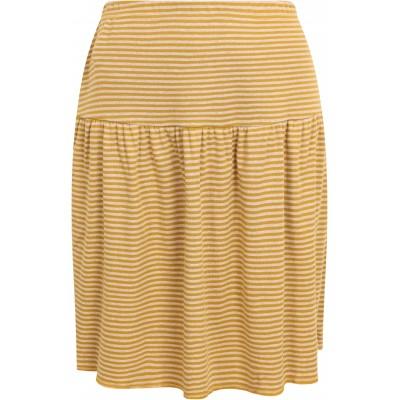 Skirt organic cotton stripes ,  curry-undyed